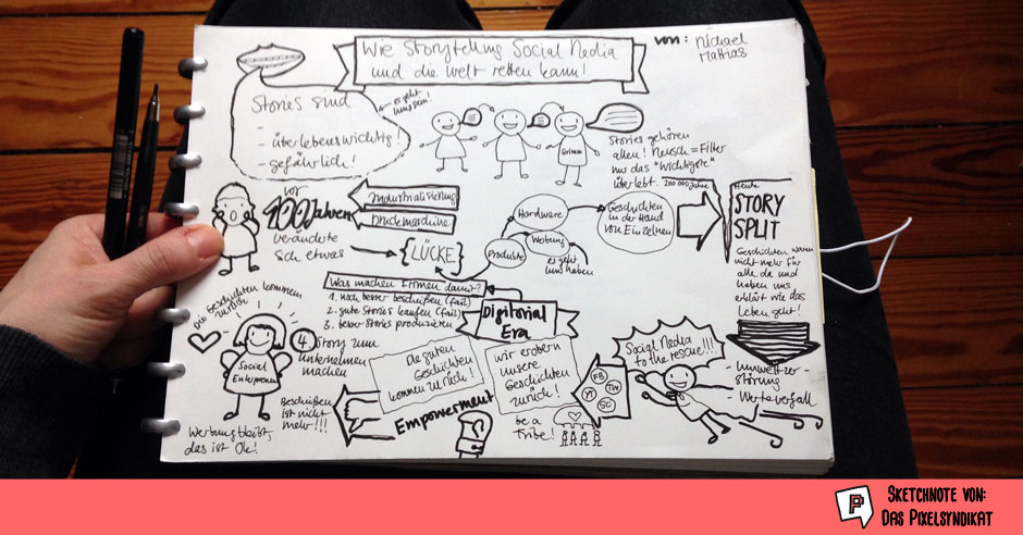 Sketchnote Storytelling Social Media Week 2016