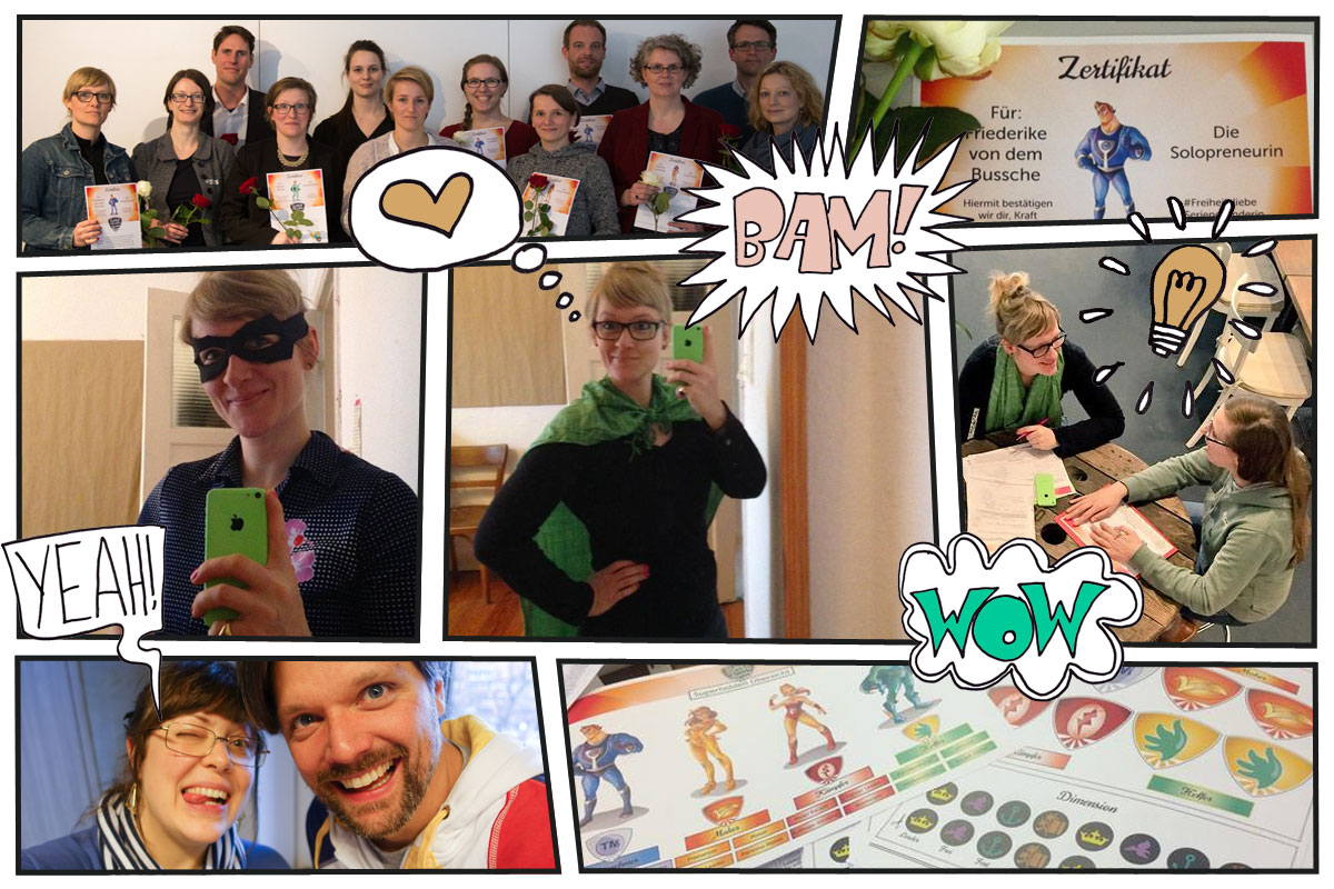 Collage Superhelden-Training - Das Pixelsyndikat