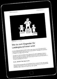 """Playbook """"Lieblingskunde"""" auf dem iPad präsentiert"""