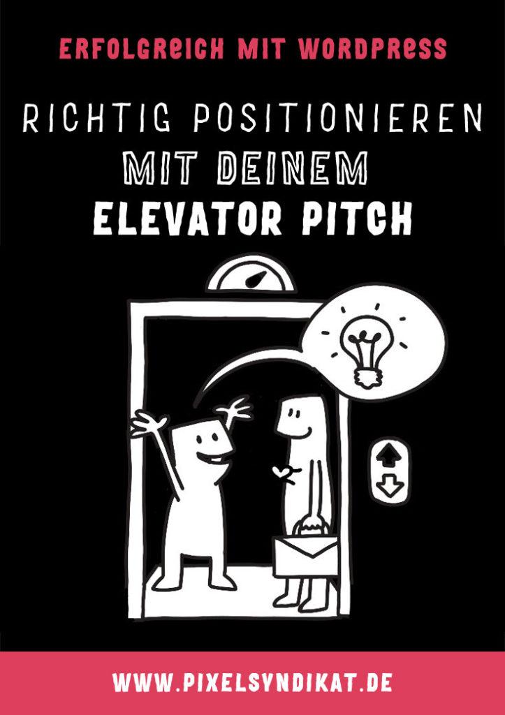 Richtig positionieren mit deinem Elevator Pitch