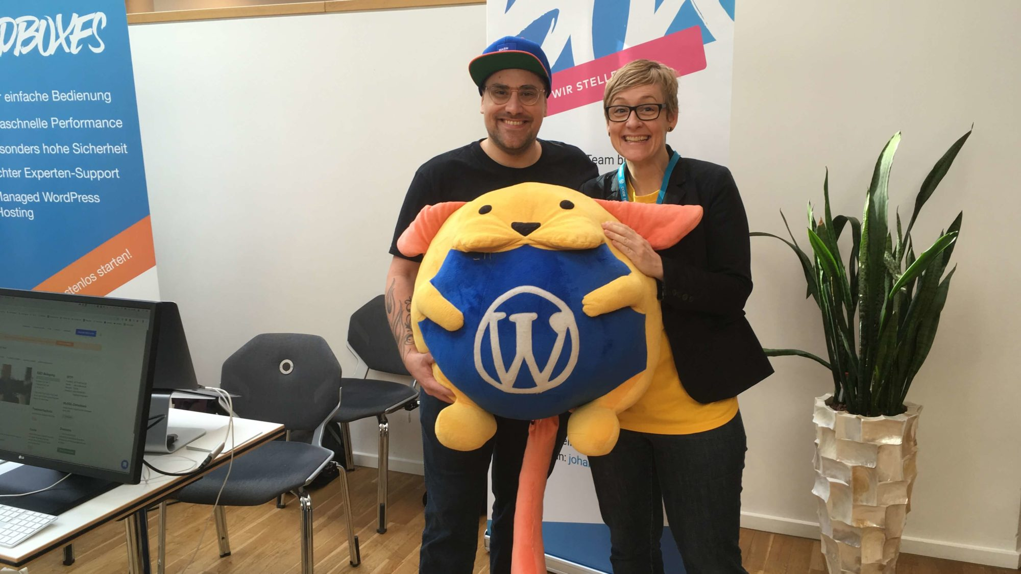 SO FLAUSCHIG! Die Pixelpatin & Don Torben inkl. Wapu auf dem WordCamp Osnabrück