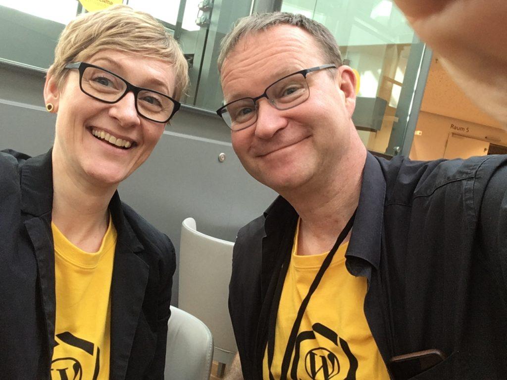 Die Patin & Don Hasegold auf dem WordCamp Osnabrück