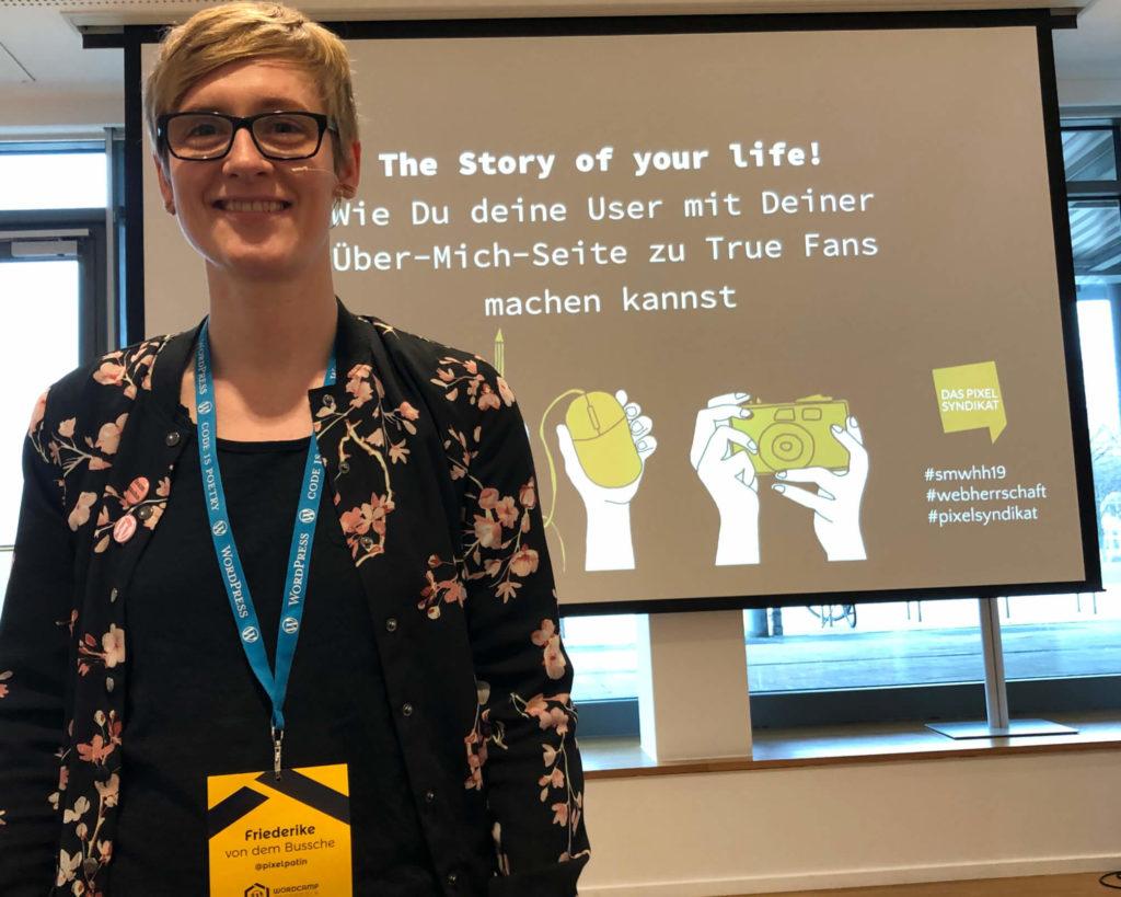 Story of your life - die Pixelpatin über Über-Mich-Seiten auf dem WordCamp Osnabrück