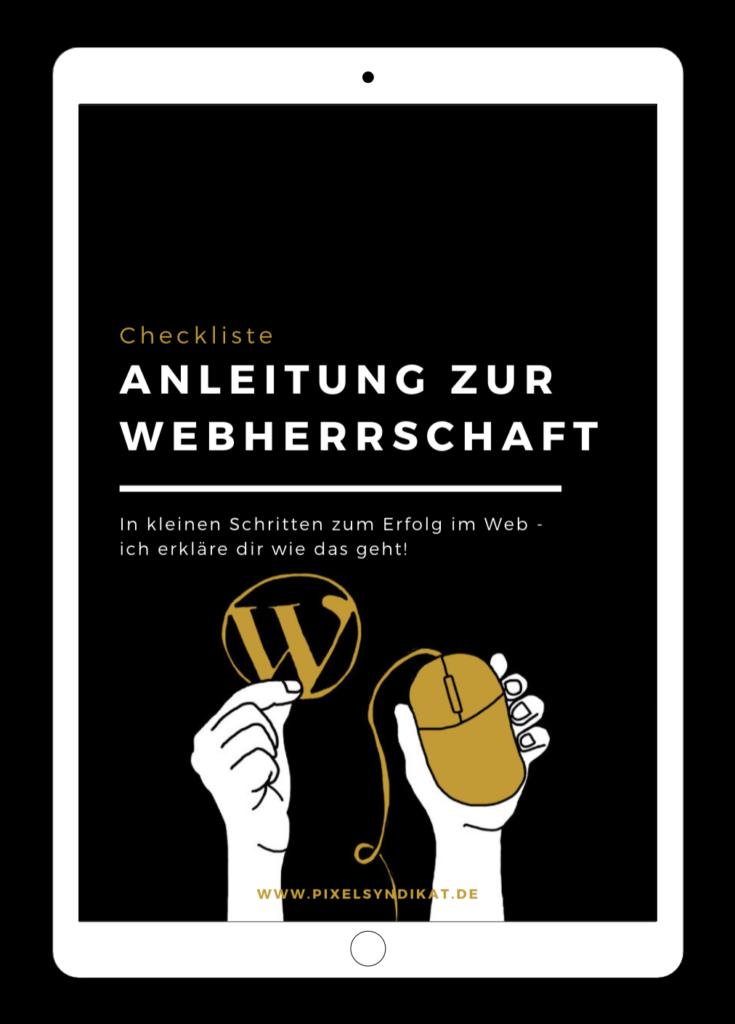 """Checkliste """"Anleitung zur Webherrschaft"""" auf dem iPad"""